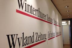 Wallwrap Detail Empfang Winterthurer Zeitung