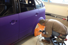 Car Wrapping bei pr-kreativ GmbH: PR-Kreativ Carwrapping in Violett