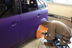 Car Wrapping bei pr-kreativ GmbH: PR-Kreativ Carwrapping in Violett