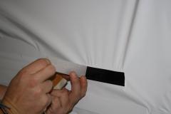 Car Wrapping bei pr-kreativ GmbH: Tuere weiss folieren Tuergriff ausnehmen2