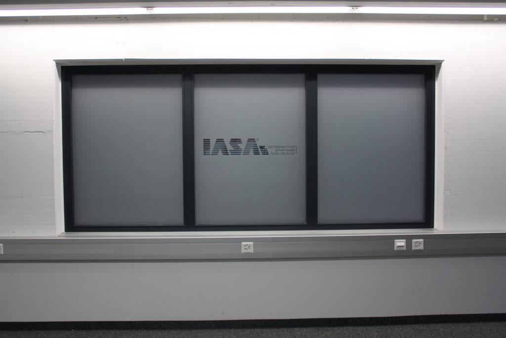 Glasdecor, Sichtschutz, Folienschnitt, Schrift, B&R Automation